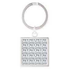 white pills drugs photo Square Keychain