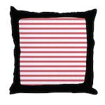 Rose White Horizontal Stripe Throw Pillow