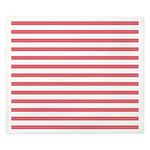Rose White Horizontal Stripe King Duvet