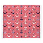 Ship Anchors on Rose King Duvet