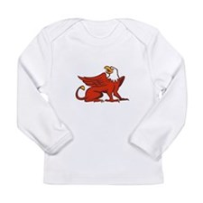 Griiffin Looking Up Side Retro Long Sleeve T-Shirt