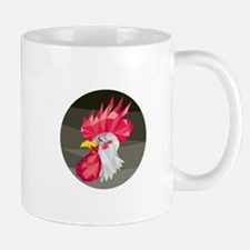 Chicken Rooster Head Side Low Polygon Mugs
