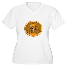 Cyclist Riding Bicycle Cycling Racing Circle Retro