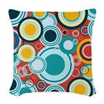 Colorful Bubbles Woven Throw Pillow