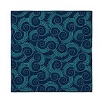 Swirly Ocean Waves Queen Duvet