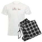 I Love Garlic Men's Light Pajamas