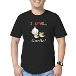 I Love Garlic Men's Fitted T-Shirt (dark)