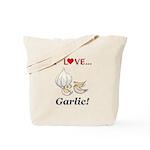 I Love Garlic Tote Bag