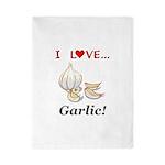 I Love Garlic Twin Duvet
