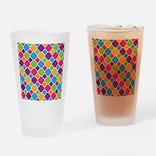 Rainbow Quatrefoil Pattern Drinking Glass