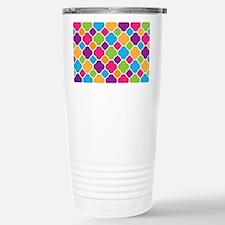 Rainbow Quatrefoil Pattern Travel Mug