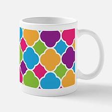 Rainbow Quatrefoil Pattern Mugs