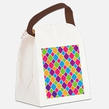 Rainbow Quatrefoil Pattern Canvas Lunch Bag