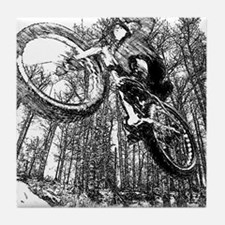 Flying fatbike Tile Coaster