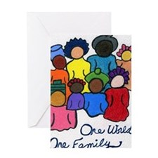 1 World 1 Family Greeting Cards