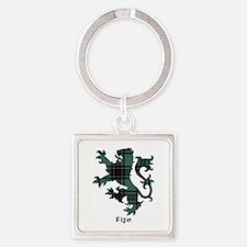 Lion - Fife dist. Square Keychain