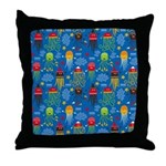Jellyfish and Octopus Throw Pillow
