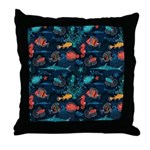 Colorful Fish in Ocean Throw Pillow