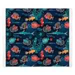 Colorful Fish in Ocean King Duvet