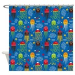 Jellyfish and Octopus Shower Curtain