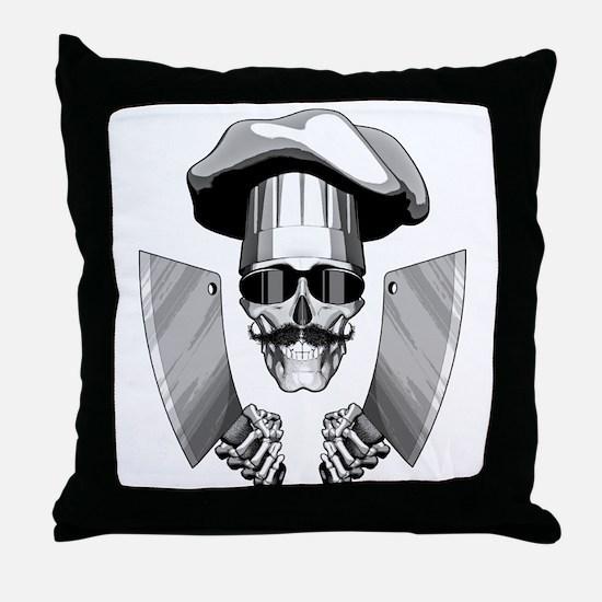 Butcher Skull Throw Pillow