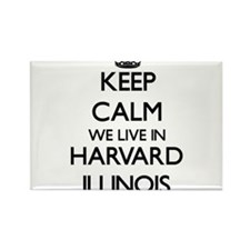 Keep calm we live in Harvard Illinois Magnets