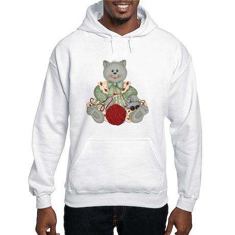 GREY CAT 1 Hooded Sweatshirt