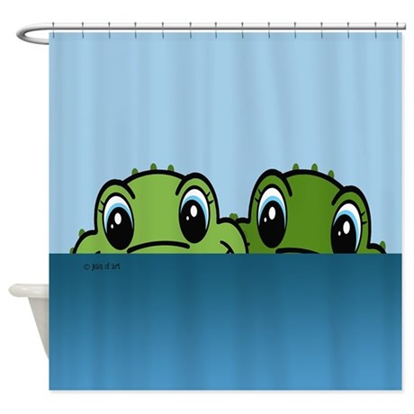 Great Alligator Shower Curtain