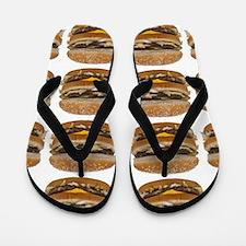 fast food burger photo Flip Flops