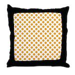 Big Orange Dots on White Throw Pillow