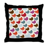 Cheerful Birds Throw Pillow