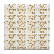 french fries thank you collage Tile Coaster