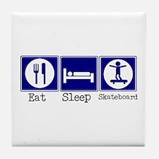 Eat, Sleep, Skateboard Tile Coaster