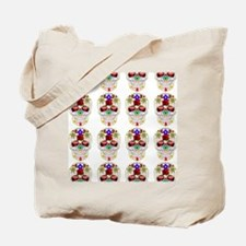 mexican sugar skulls white art Tote Bag
