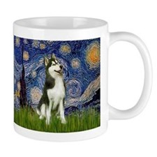 Starry Night & Husky Mug