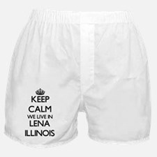 Keep calm we live in Lena Illinois Boxer Shorts