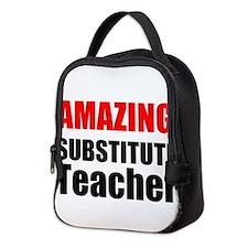 Amazing Substitute Teacher Neoprene Lunch Bag