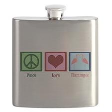 Peace Love Flamingos Flask