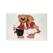 BEARS IN LOVE Rectangle Magnet