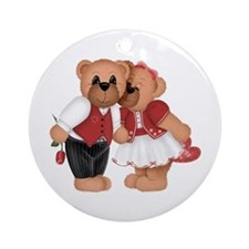 BEARS IN LOVE Ornament (Round)