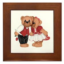 BEARS IN LOVE Framed Tile