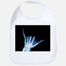 Shaka Hand Sign X-ray ALOHA Bib