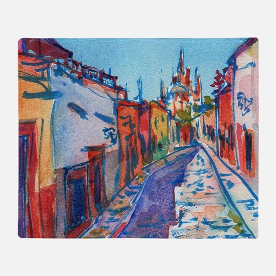 San Miguel De Allende Throw Blanket