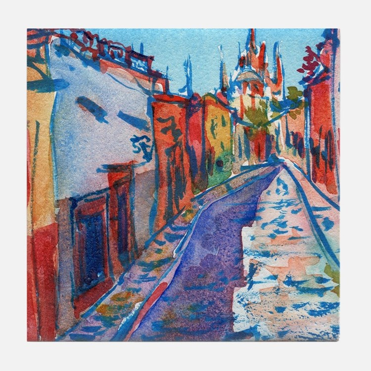 San Miguel De Allende Tile Coaster