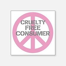 """Cruelty Free Consumer Square Sticker 3"""" X 3&q"""