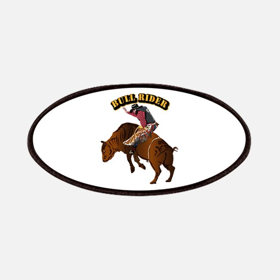 Cowboy - Bull Rider with Text Patch