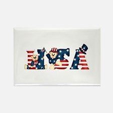 USA BEARS Rectangle Magnet