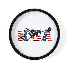 USA BEARS Wall Clock
