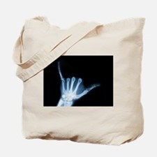 Shaka Hand Sign X-ray ALOHA Tote Bag