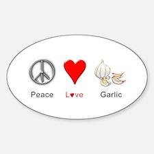 Peace Love Garlic Decal